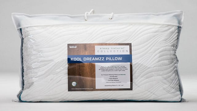Sleep Natural™ Kool Dreamzz Gel Memory Foam Pillow